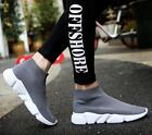 mens black shoes sale - Hot Sale Mens Pointed Toe Ankle Stretchy Boots Walk Sneakers Socks Shoes EU39-44