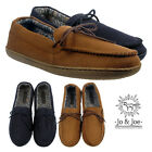 MENS RELAX COMFORT MOCASSINS FLAT  LACE UP SLIPPERS SHOES SIZE 7 8 9 10 11 12