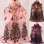 New Women Chic Peacock Scarf Soft Scarf Wrap Scarves Vintage Stylish Shawl  WK
