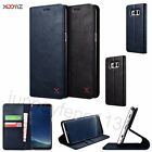 XOOMZ PU Leather Kicstand Wallet Folio Cover Case For Samsung Galaxy S8 & S8+