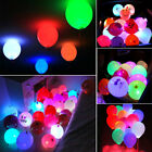 50pcs Colorful LED Glow Balloons Paper Lantern Lights Wedding Party Decor