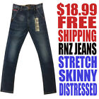 RNZ Premium NWT Men's Skinny, Stretch & Distressed Stretch Jeans Free Shipping