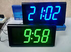 Modern Square 3D Watch Digital Large LED  Desk Wall Clock Home Decoration