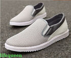 HOT summer Men Lace Breathable Loafer Casual Sneakers Slip On Driving Boat shoes