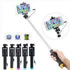 Handheld Wired Selfie Stick Monopod Extendable Pole For iPhone Samsung Universal