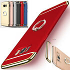 Luxury Shockproof Armor Matte Hard Case Cover For Samsung Galaxy & Ring Stand