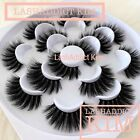 10 / 5 Pair Mink Lashes & Silk Eyelashes Set Make Up US SELLER