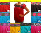 Authentic Handmade embroidered ladies Mexican blouse Stretch Cross Stitch