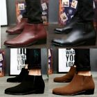 British Style Mens Faux Suede Leather Chelsea Dress Shoes Pointy Toe Ankle Boot