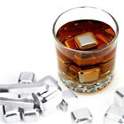 5/10PCS Wine Stone Stainless Steel Ice Freezer Whiskey Beer Cooler Club Bar Tool
