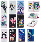 Beautiful Pattern Magnetic PU Leather Stand Card Wallet Case For Smart Phones