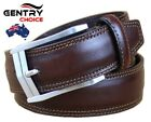 Men's 100% Genuine Leather High Quality Casual Dress Fashion Coffee Brown Belt