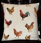 "Handmade Cushion Cover.... various designs  Hens  / Owls / Wildlife 16""x16"""