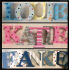 15cm Freestanding Painted Wooden Letters - Personalised ANY COLOUR LETTER STYLE