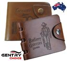 Men's Stylish Leather Business Bifold Brown Wallet Fashion ID Credit Card Holder