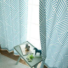 """Turquoise Geometic Patterned Curtains Grommet 104""""W X 92""""H 1 Pair"""