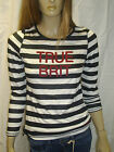 PEPE JEANS LONDON LADIES VELVET BLACK/WHITE LS T-SHIRTRRP £40.00 SIZE 12 BNWT