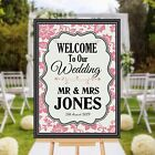 Personalised Welcome to our Wedding Sign Banner Poster Print N171 (Print Only)