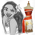 Moana Disney Moana Girls Adventure Outfit Girls Fancy Dress Cosplay Necklace