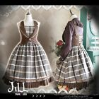Lolita goth british memory tartan layered look woolen sleeveless dress【JI0042】