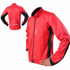Mens Cycling Jacket Thermal Cycle Winter Windproof Jacket Full Sleeves Red-Black
