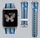 Detroit Lions Apple Watch Band 38 40 42 44 mm IWatch PU Leather Strap 178 $24.99 USD on eBay