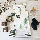 2017 Fashion Baby Girl Clothes Animals Tree Printed Sleeveless  Baby Romper