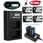 LP-E6 Battery & USB LCD Dual Charger for Canon EOS 80D 6D 60D 70D 7D Mark II III