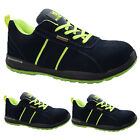 MENS SUPER LIGHTWEIGHT STEEL TOE CAP SAFETY WORK TRAINERS SUEDE LEATHER BOOTS