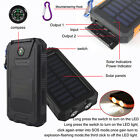Waterproof Portable 300000mAh Solar Power Bank External 2USB LED Battery Charger