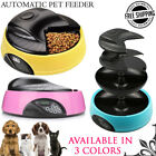 4 Meal Automatic Pet Feeder Auto Dog Cat Food Bowl Dispenser Electronic Travel