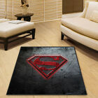 Superman DC Square Cool Velboa Floor Rug Carpet Room Doormat Non-slip Mat #67