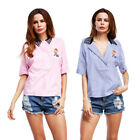 Femme Casual manches courtes t-shirt chemisier t-shirts