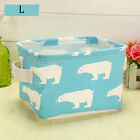 Toys Basket Jewelry Cosmetic Colorful Cotton And Linen Laundry Box Storage