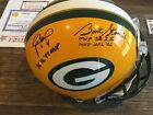 Brett Favre And Bart Starr Autographed Green Bay Packers Full Size Helmet