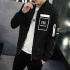 Men's Slim collar jackets fashion jacket Tops Casual coat outerwear New !