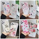 For iPhone 8 X 6s 7 Plus 5s Emboss Floral Relief Pattern Soft Gel Silicone Case