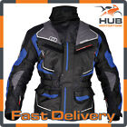 Oxford Oslo 1.0 Waterproof Motorcycle Motorbike Touring Jacket - Grey/Blue