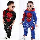 Fashion Baby Boys Spiderman Top+Pants Outfit Suit Kids Casual Sport Clothes Sets