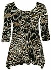 New women's Animal print waterfall top sparkly sequin plus size top 12 to 24