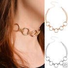 Women Vogue Jewelry 5 Circle Round Ring Necklace Multilayer Alloy Chain Choker