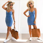 UK Womens Bodycon Lace Strappy Dress Ladies Party Evening Midi Dress Size 6-14
