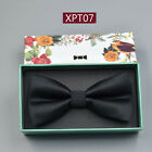 Solid Paisley Polyester Silk Novelty Tuxedo Bow Tie Adjustable Ties Party