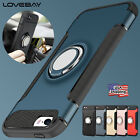 For iPhone 5 5s SE Ring Case Shockproof Slim Hybrid Protective Hard Rubber Cover