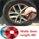 8M Car Chromium Plated Exterior Rim Grill Headlight Sticker Wheel Hub Protector