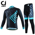 Men Maze Cycling Bicycle Riding Long Sleeve Sport Suit Set Jersey Pants