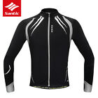 SANTIC Cycling Fleece Thermal Long Jersey Autumn Sports Jersey Grey-Gabriel New