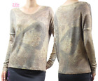 Women's Sublimation Butterfly Feather V-neck Long Sleeve Top (S/M/L)