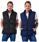 Mens Padded Lined Quilted Sleeveless Bodywarmers Gilets Jackets Size M to XXL