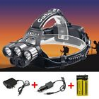 80000LM 6 Modes 5x XM-L T6 LED Rechargeable 18650 Headlamp Head Light Torch USA
